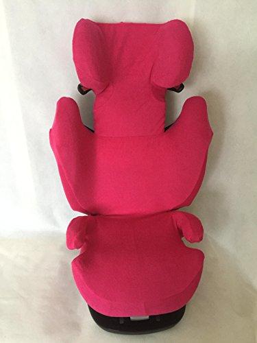 Sommerbezug Schonbezug für Cybex Solution M, M-Fix, S-Fix, M SL Frottee 100% Baumwolle pink
