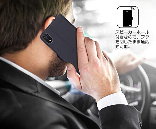 FYYスマホケースiPhoneXRケースiPhoneXR手帳[改善版]手帳型カード収納スタンド機能ストラップ付きハンドメイドPUレザー軽量薄型耐衝撃iPhoneXR6.1インチ対応(ブラック)