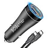 Bobeite Chargeur Voiture USB C Allume Cigare[PD3.0+QC3.0],Charge Rapide Téléphone Portable...