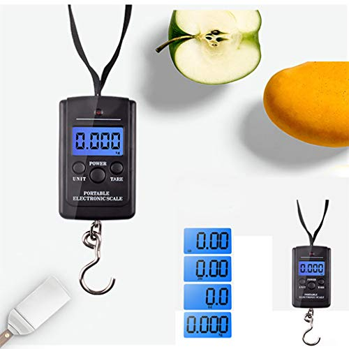 2019 Best Gift!!! Cathy Clara 40kg x 5g Digital Scale for Fishing Luggage Steelyard Hanging Electronic Scale,Hook Scale with Measuring Tape