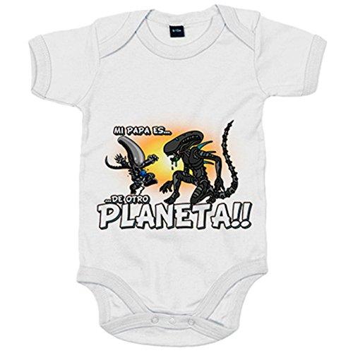 Body bebé mi papá es de otro planeta parodia Alien - Rosa, 12-18 meses