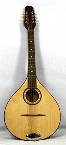 Musikalia Luthery ELECTRIFICADO VERSIÓN IZQUIERDA Mandola Irlandesa Plana, Octava en padouk, diapason cm. 53