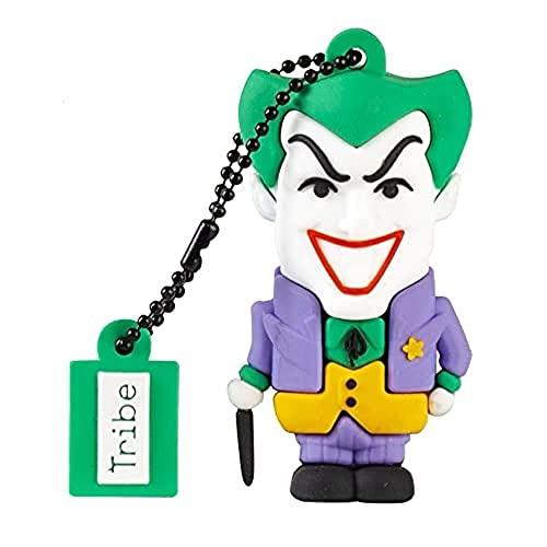 Tribe - Chiavetta USB 32 GB Joker - Memoria Flash Drive 2.0, Personaggio Originale DC Comics, Pennetta USB Compatibile con Windows, Linux e Mac