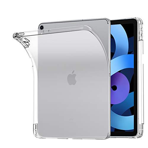 A-VIDET Hülle Kompatibel mit iPad Air 4 10.9 2020(4.Generation),Superdünnes Silikon Mattierte Softschale R&umschutz Gehäuse Einfache Rückenschutzhülle Kompatibel mit iPad Air 2020 10.9 Zoll (Weiß)
