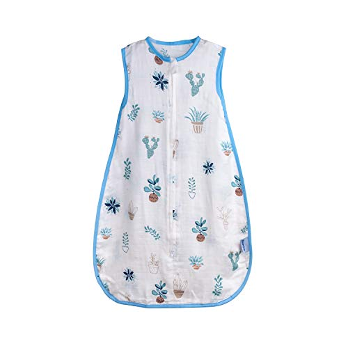 Baby Sleeping Sack Muslin Cotton Soft Wearable Blanket Summer Sleeping Bag Baby Sleeveless Sleep Sacks 0.5 Tog 24-36 Months Boy Kids Large 3T Lightweight 4-5 Years Girl Infant Sleep Bag Toddler XL
