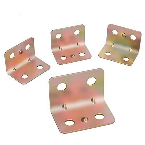 30 Stück Verzinkt Winkel Klammern 90 Grad Winkelverbinder 20 mm x 20 mm x 25 mm Schwerlast 600KG Bracket Klammer/L Form Ecke Klammer/Möbel Winkel