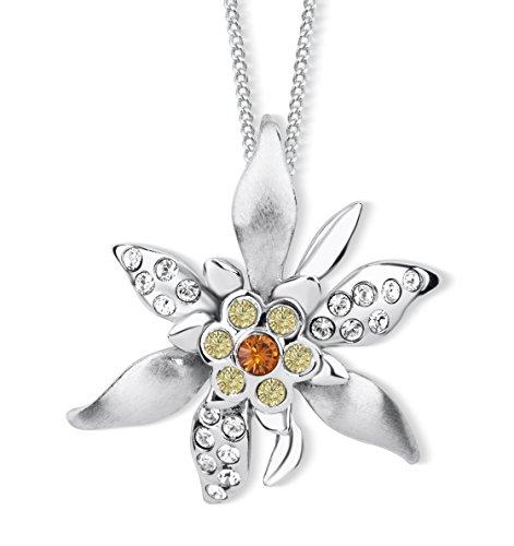 Crystalp Edelweiss Halskette mit Swarovski® Kristallen