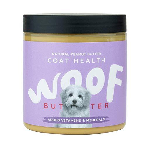 Funky Nut Company Beurre de cacahuète pour chiens (santé du pelage), fabriqué au Royaume-Uni, sans huile de palme.