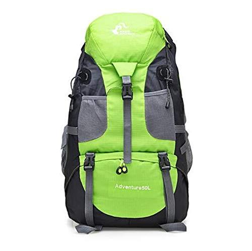 Liusujuan Outdoor Backpack Camping Climbing Bag Waterproof Mountaineering Hiking Backpacks Molle Sport Bag Climbing Rucksack (Color : 50L Green)