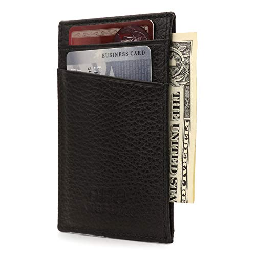 Otto Angelino Genuine Leather Wallet - Bank Cards, Money, Driver's License Cardholder - Unisex