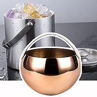 ふたが付いているステンレス鋼の氷のバケツ、携帯用二重絶縁の氷のバケツ、さまざまなオプション、パーティーのための使用、家,Gold-RoundShape