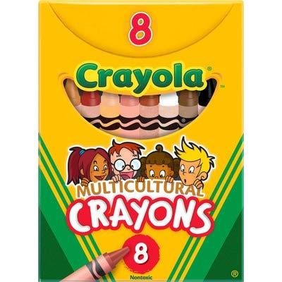 CYO52008W - Crayola Large Regular Multicultural Crayons
