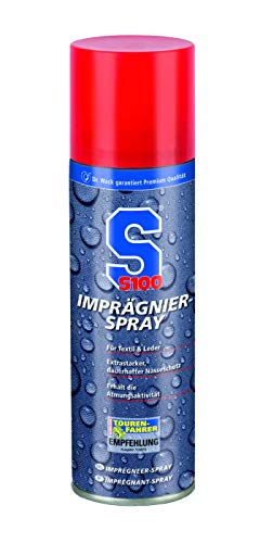 Dr. Wack - S100 Imprägnier-Spray 300 ml I Imprägnierer für anhaltenden Schutz vor Nässe & Verdunstungskälte I Imprägniermittel für Textilien & Leder I Hochwertige Motorradpflege – Made in Germany