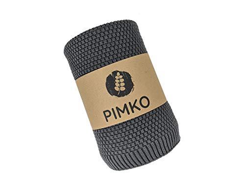 PIMKO Babydecke Strickdecke Kuscheldecke Schmusedecke weich und kuschelig ideal für Zuhause oder für Unterwegs für Allergiker geeignet aus natürlicher 100% Baumwolle Größe 80 x 100 cm (Anthrazit)