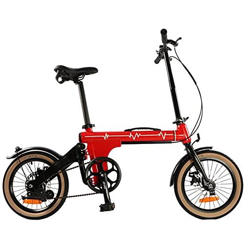 ZJWD Mini Bicicleta Plegable de 16 Pulgadas, Bicicleta de montaña, para desplazamientos en Metro Bicicleta portátil para niños, niños y Adultos,D