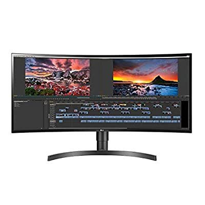 LG 34WN80C-B 34 inch 21:9 Curved UltraWide WQHD IPS Monitor with USB Type-C Connectivity sRGB 99% Color Gamut and HDR10 Compatibility, Black (2019)