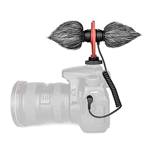 JXAA V-Mic D4 Duo Micrófono cardioide de cápsula Doble Montaje en cámara Micrófono de Escopeta Enchufe de grabación Dual Mono/estéreo