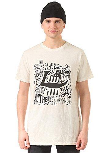 Nitro Snowboards L1 Authentic Logo T-shirt, heren, wit, L