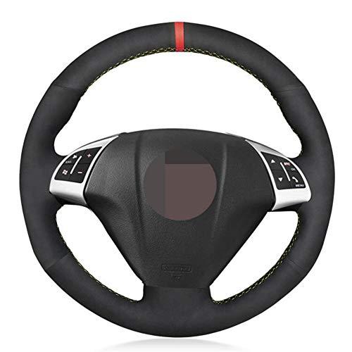 XLZWRJ Cubierta Negra para Volante de Coche, para Fiat Grande Punto Bravo Linea 2007-2019 Qubo Doblo, para Opel Combo Vauxhall Combo 2012-2017