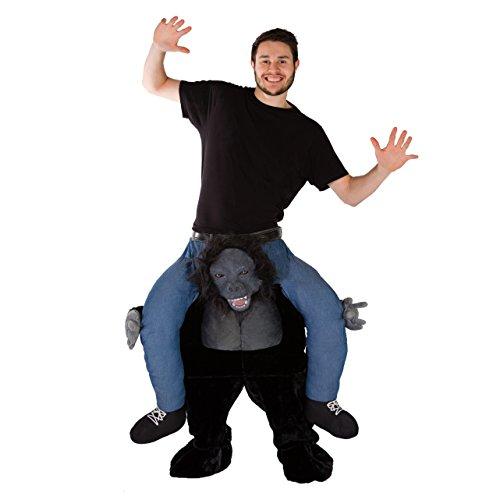 Bodysocks® Disfraz a Hombros (Carry Me) de Gorila de Lujo para Adulto