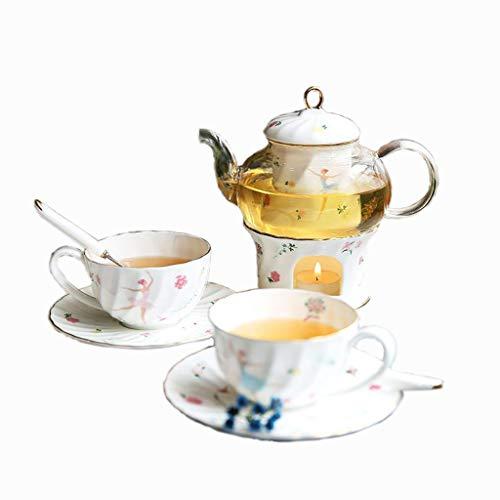 Tasse à café Théière en verre, théière de thé noir thé café théière résistant à la chaleur épaissir théière ménage bureau théière capacité: 670 ml Service à thé (Couleur : B)