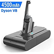 Dyson V8 Battery Replacement, Buture 4500 mAh 21.6V Li-ion Battery for Dyson V8 Absolute Battery Replacement Compatible with SV10 Absolute Animal Fluffy Cord-Free Vacuum