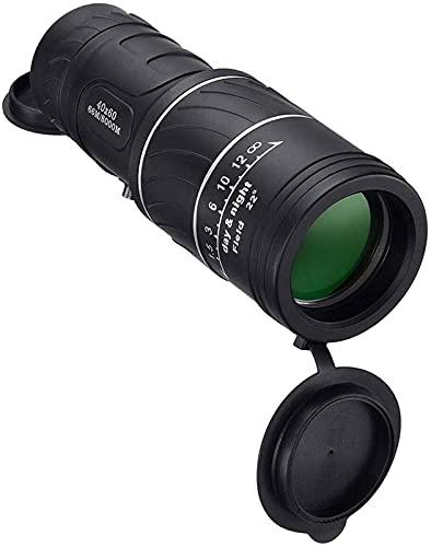 LXHJZ Telescopio binoculares 40X60 Gran Aumento Alta definición Al Aire Libre con Poca luz Puede Tomar Fotos, para Caza al Aire Libre Senderismo