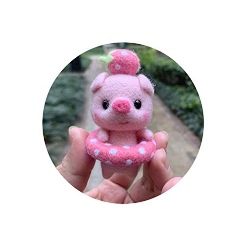Grafts - Rotulador de muñecas, creativo y adorable, 1 pieza, artesanía, bricolaje de Navidad, conjunto de bolsillos, kit artesanal para aguja, serie de cerdo de natación
