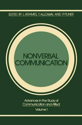 Nonverbal Communication (Advances in the Study of Communication and Affect)