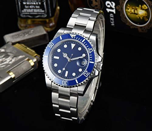 CHASO Automatikuhr Herren Aseptik Uhrwerk 40Mm Luminous Hands Taucher Stahlgehäuse Militär Saphirglas Armband 6215