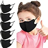5Pcs Kids Face_Mask Reusable Washable Adjustable Ear Loops One Layer Thin Funny Bandanas Back to School