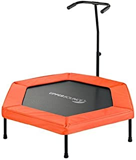 Upper Bounce Hexagonal Fitness Mini-Trampoline - T-Shaped Adjustable Hand Rail - Bungee Cord Suspension [並行輸入品]