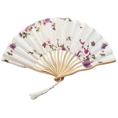weichuang Abanico de baile plegable de mano, estilo chino, para boda, fiesta,...