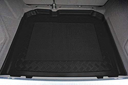 Kofferraumwanne mit Anti-Rutsch passend für Audi Q3 SUV/5 auch Quattro 08/2011- vertiefte Ladeflaeche (ohne Not-Ersatzrad mit Pannenset)