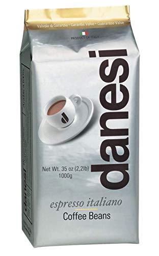 D Danesi Caffe Italian Espresso Coffee Beans (Gold Whole Bean, 1000g, 1 pack)
