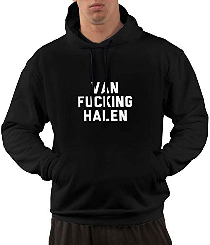 Van Fucking Halen Men's Pullover Hooded Sweatshirt Pocket XL