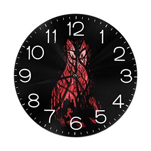 Melinda Perrodin Mister Poe's Guilttrip Reloj de Pared Redondo Reloj Elegante Pintura al óleo Reloj Digital MUTO