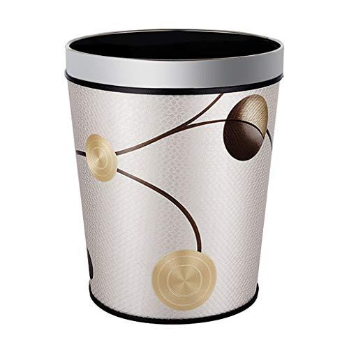 Xiaoli Cubo de Basura Papelera Cesta de Basura Hogar Cocina Sala de Estar Dormitorio Baño Creativo Cubierto de plástico Cubo de Basura Cubo de Almacenamiento Papeleras (Color : E, Size : M-12L)