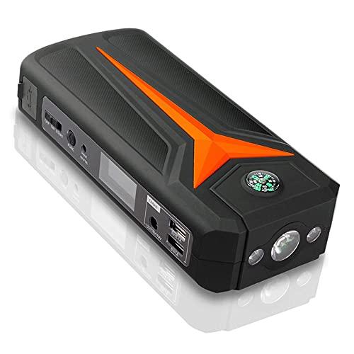 GRFSD 500A 18000mAh Arrancador De Batería for Coche,Arrancador Portátil del Puente del Coche,Cargador De Batería Automático Inteligente con Modos De Luz Y 2 Puertos USB