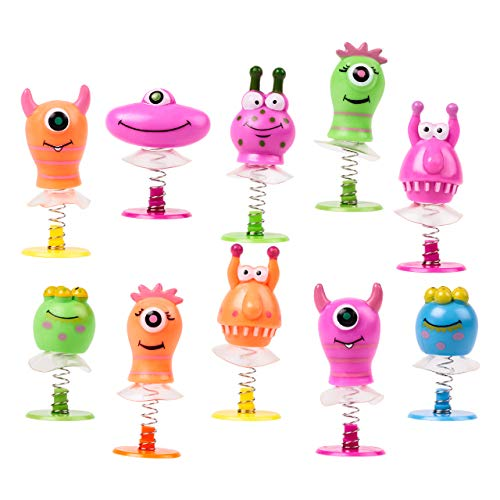 THE TWIDDLERS Monster Jump Up Toys - Pack of 36 Mini Pop up Toys, Creature Monsters Toys Party Favors - | Goodie Bag Fillers | Classroom Prize and Rewards | Favor Bag Fillers