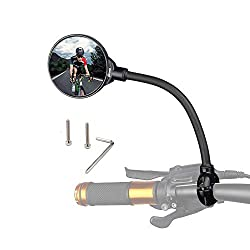 powerful Bicycle Mirror Rotating and Adjustable Wide Angle Rearview Mirror Impact Resistant Convex Mirror Universal…