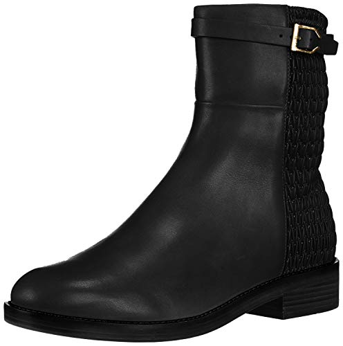 Cole Haan Women's Lexi Grand Stretch Strap Boot Mid Calf, Black Leather/WEAV, 8 B US