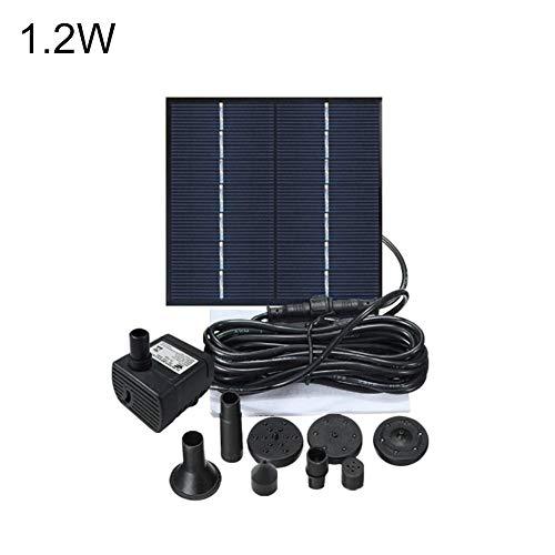 Eillybird Fontein op zonne-energie, voor in de tuin, waterpomp, op zonne-energie, 2,5 W, werkt op zonne-energie, borstelloze waterpomp voor zwembaden