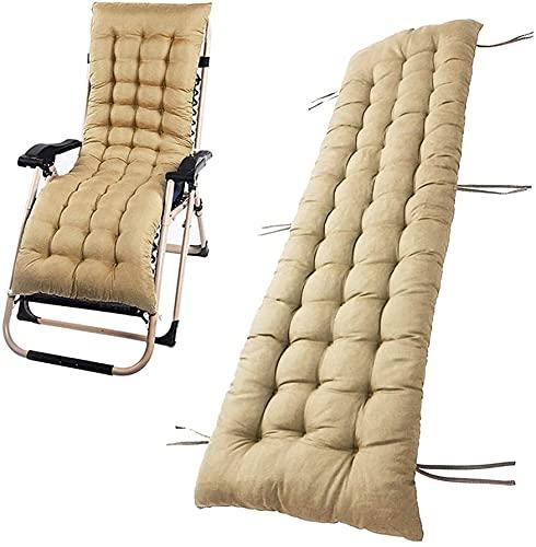 Cojín para tumbona, cojín reclinable de algodón suave, cojines de silla de patio con almohadillas de repuesto antideslizantes para sofá de jardín, interior y exterior, sin silla (amarillo)