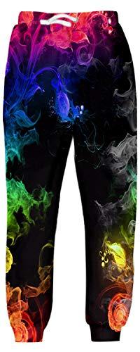 Belovecol Teenager Jungen Mädchen Trainingshose Funny Jogginghose Lang 3D Sporthose Casual Kordelzug Hose mit Taschen