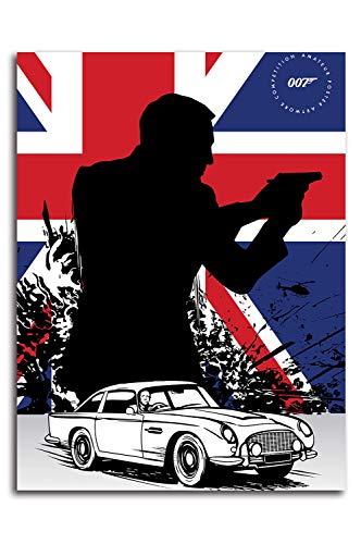 No Time to Die Pannel - Póster decorativo de pared (30,5 x 40,6 cm), diseño de James Bond 007 y Daniel Craig, decoración para dormitorio de niños y niñas, sin marco/enmarcarse