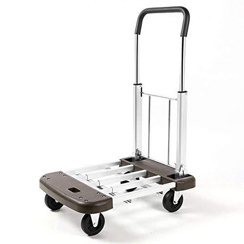 HWZQHJY Plegable en Movimiento Push Cart Trolley Capacidad de Peso 330lbs