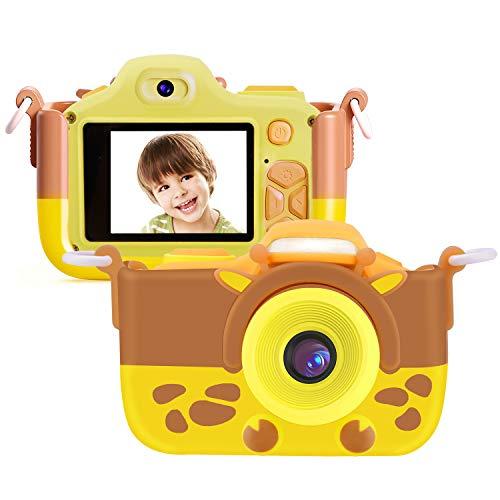 Kriogor Cámara de Fotos para Niños, Juguete Digital Cámara Selfie Flash 2 Pulgadas 12MP 1080P HD Niño Niña Cumpleaños (Tarjeta Micro SD Incluida)