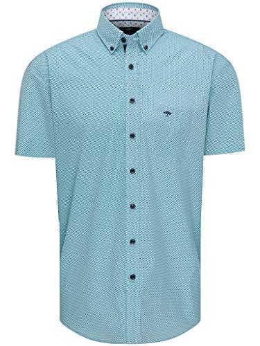 Herren Sommer-Hemd Kurzarm - Premium Baumwolle -Halbarm Hemd mit Button-Down Kragen Casual Business-Look - Shirt Basic Short-Sleeve