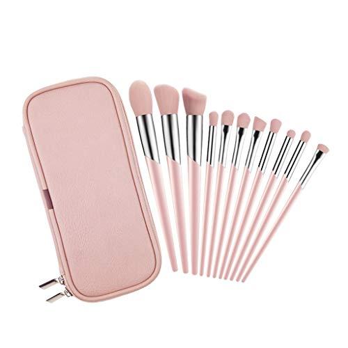 Pinceau de maquillage de 11 pièces Débutant Blush Pinceau lustré Capacité de réparation Pinceau Blooming Eye Shadow Brush Soft Hair Set A ++